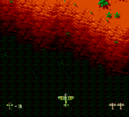 Twin Hawk TurboGrafx-16 Flying over a chasm