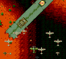 Twin Hawk TurboGrafx-16 You can call a squadron of planes for help instead of the general smart bomb.