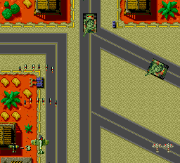 Twin Hawk TurboGrafx-16 Collect power-ups to shoot more bullets at once.
