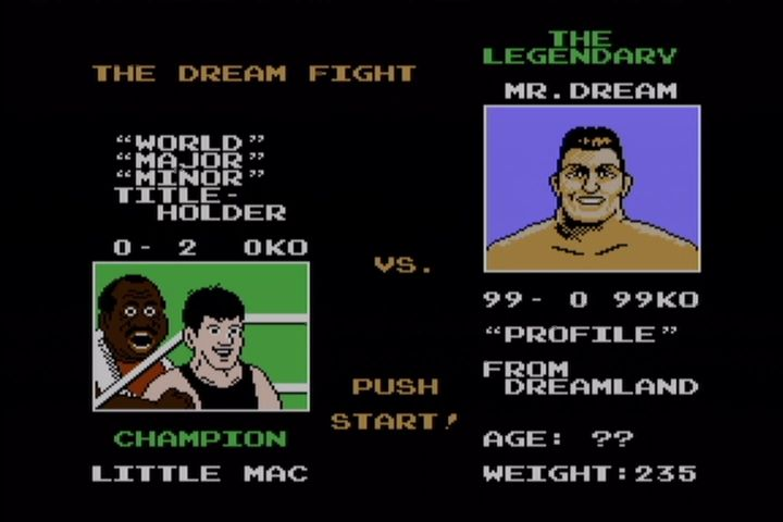 "Mike Tyson's Punch-Out!! NES ""Mr. Dream"" replaces Tyson in the re-release."