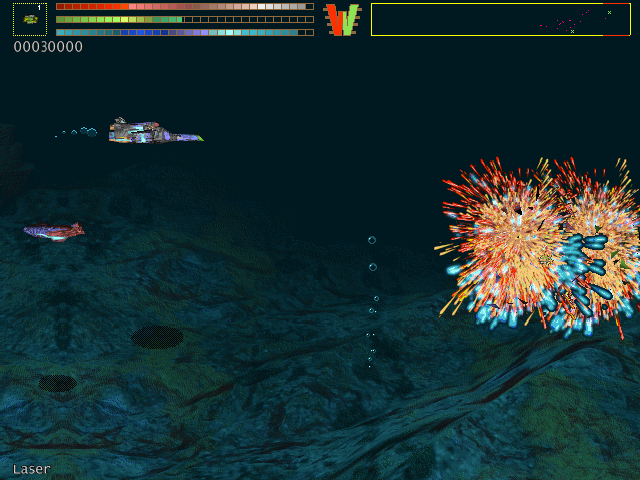 Katharsis DOS Fireworks in space - an enemy has been destroyed.