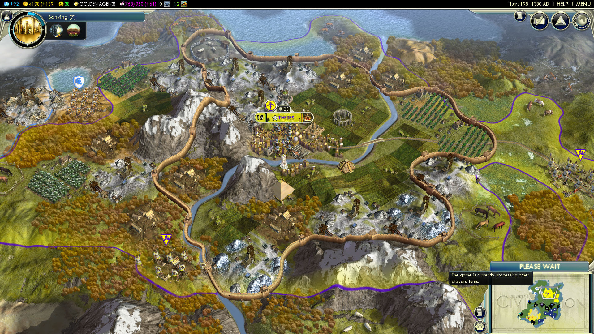 Sid Meier's Civilization V Windows Cultural civilizations can expand their borders widely without building many cities