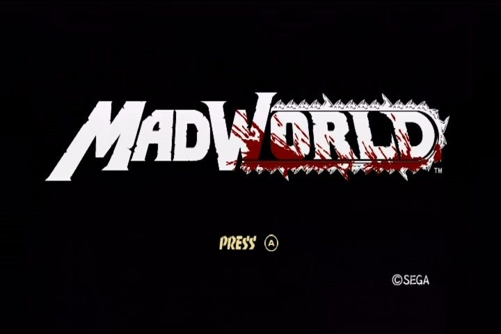 MadWorld Wii Title screen