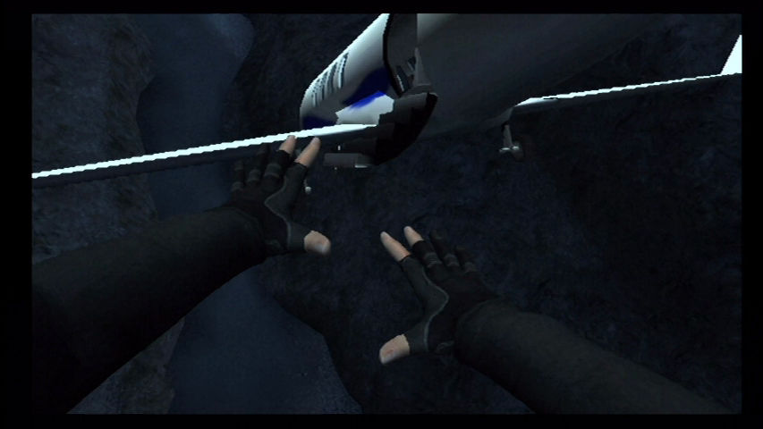 GoldenEye 007 Wii Recreating the plane jump in the movie.