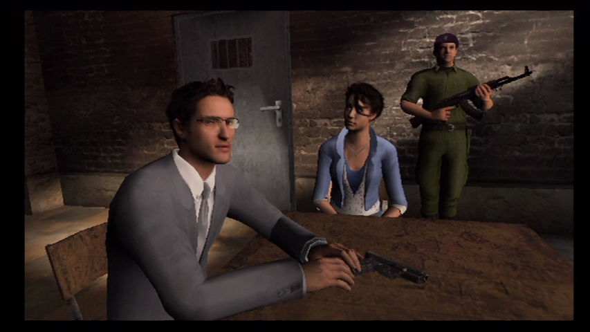 GoldenEye 007 Wii Captured and interrogated by Russian security.