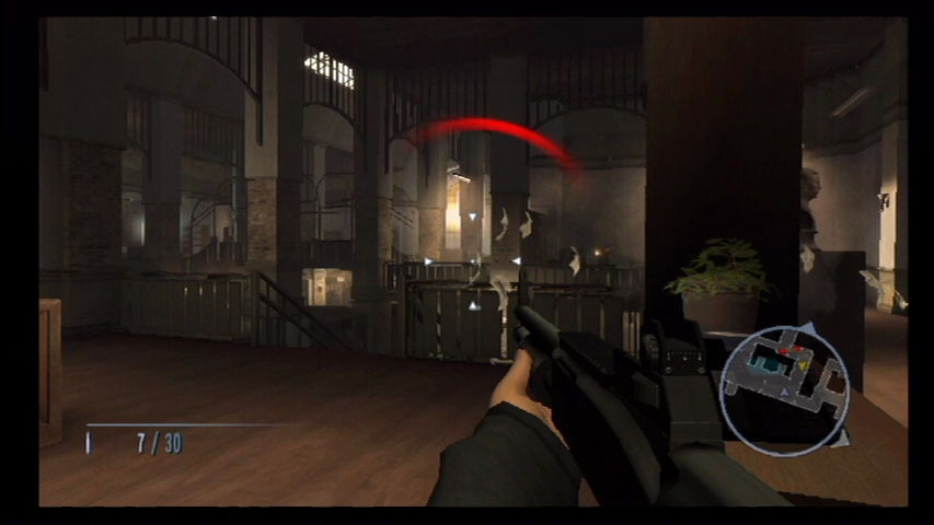 GoldenEye 007 Wii Fighting out of military HQ.