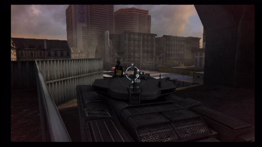 GoldenEye 007 Wii The tank chase is a little more elaborate this time.