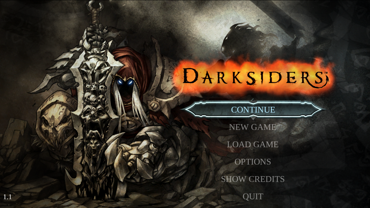 Darksiders Windows Main Menu