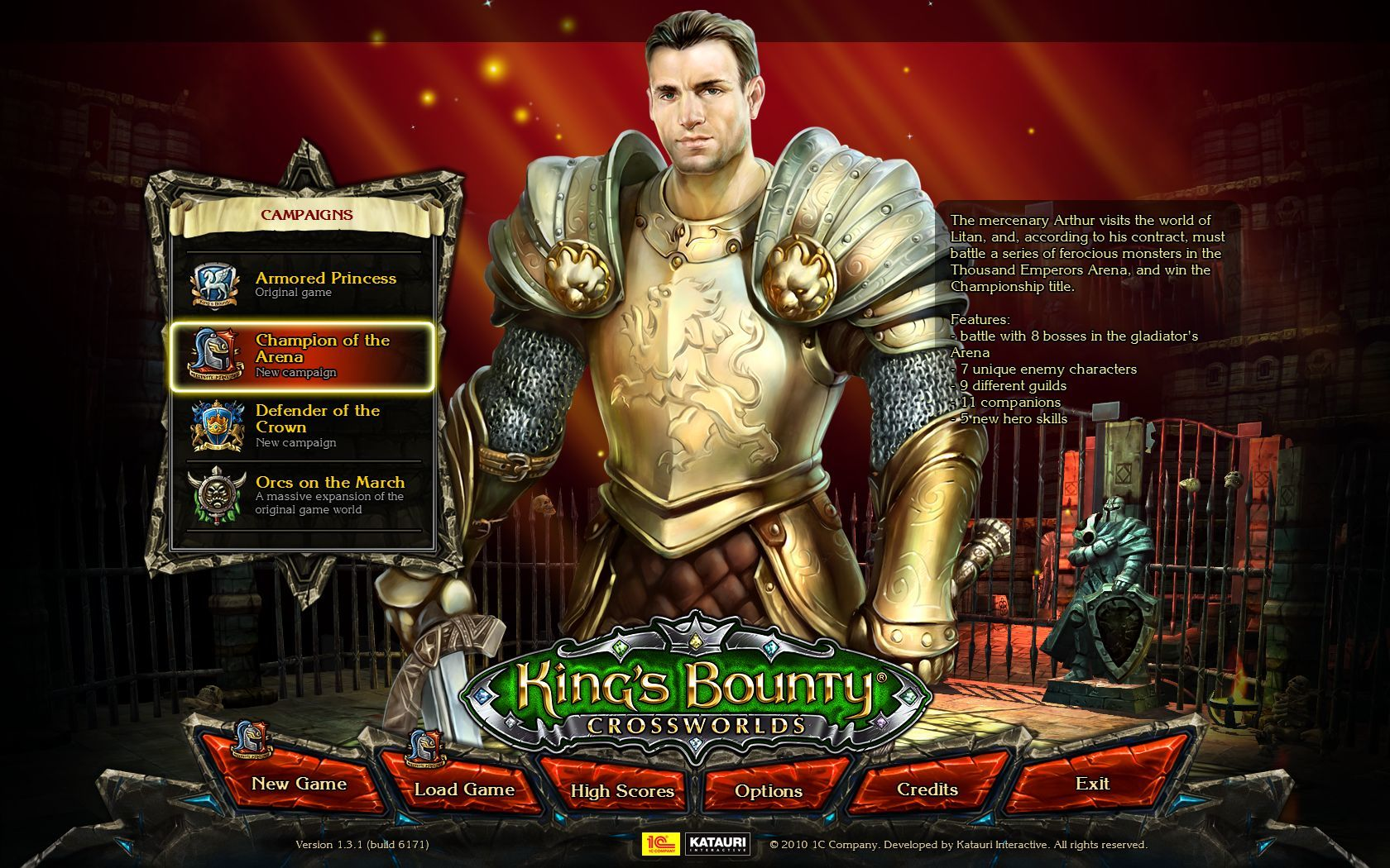 King's Bounty: Crossworlds Windows The extension Champion of the Arena, a new map.