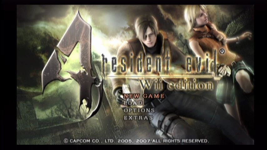 Resident Evil 4 Wii Title screen
