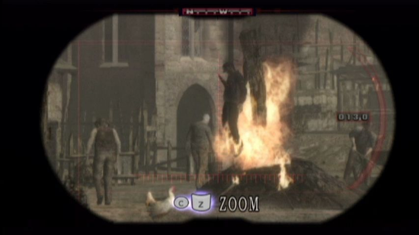 Resident Evil 4 Wii Using binoculars.