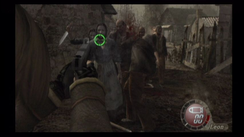 Resident Evil 4 Wii Groups of zombies attack!