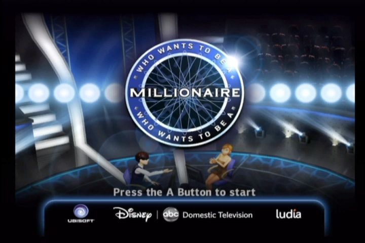 Who Wants to Be a Millionaire Wii Title screen.