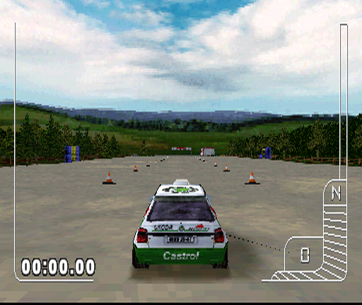 Colin McRae Rally PlayStation This lesson's task is simple: drive as fast as you can and stop at the finish line