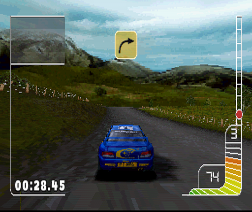 Colin McRae Rally PlayStation Grassy plains and slopes of New Zealand