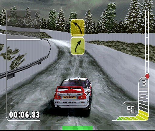 Colin McRae Rally PlayStation Now it's Monte Carlo. One of snowy stages