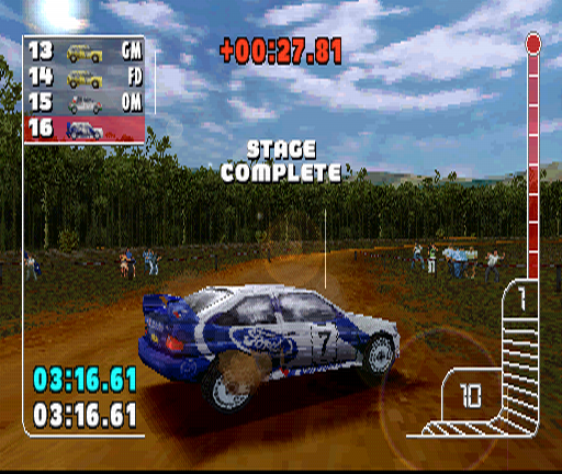 Colin McRae Rally PlayStation Stage complete! Although I'm at the end of the line...