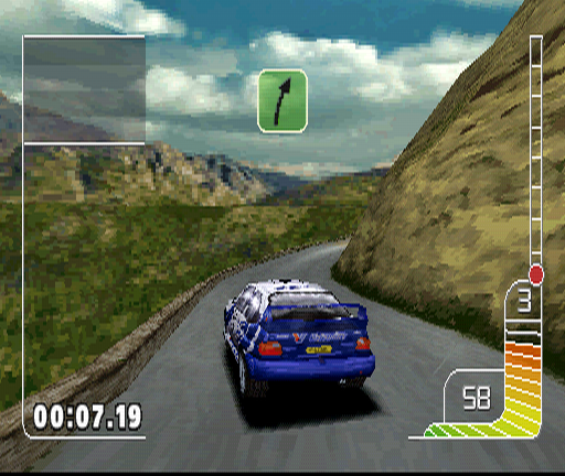 Colin McRae Rally PlayStation Corsica rally starts literally on the edge