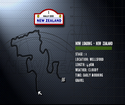 Colin McRae Rally PlayStation Loading New Zealand Rally, Special Stage 1