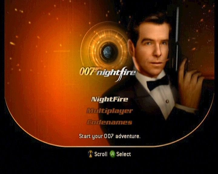 007: Nightfire Xbox Main Menu