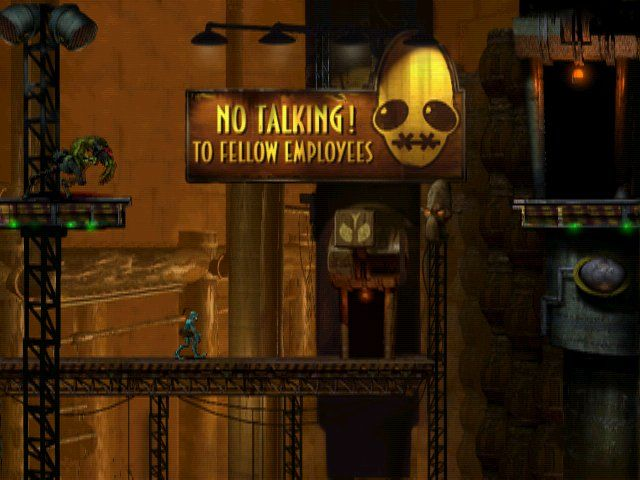 Oddworld: Abe's Oddysee Windows In front and back of the scene