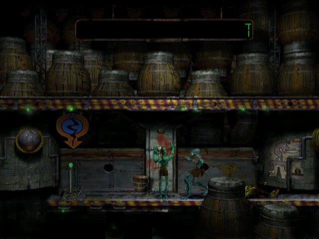 Oddworld: Abe's Oddysee Windows Sneaking over the sleeping guard