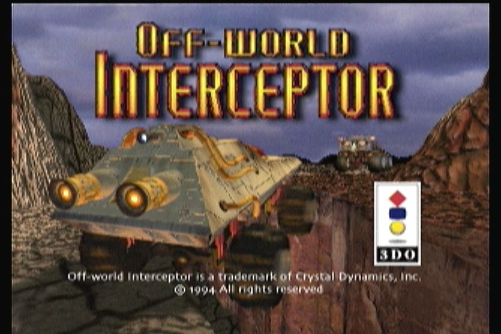 Off-World Interceptor 3DO Title screen