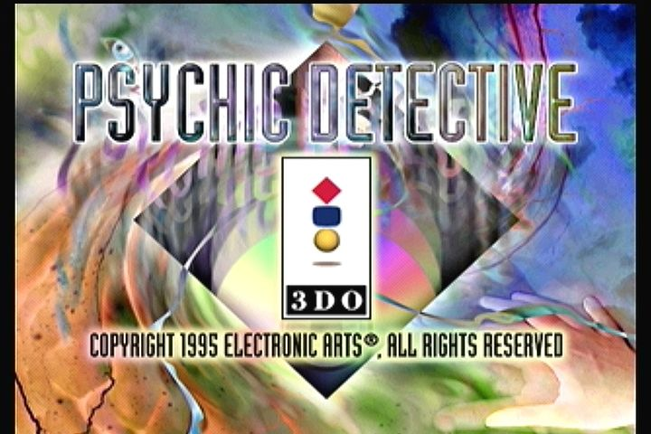Psychic Detective 3DO Title screen
