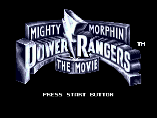 Mighty Morphin Power Rangers: The Movie Genesis Title screen