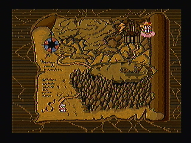 Super Burger Time Zeebo Before each world starts you get to see this map showing where you are. The clown in the upper right corner marks the last boss.