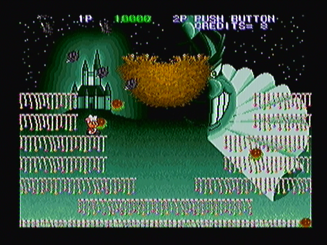 Super Burger Time Zeebo World 2-4. The second boss battle is divided in two parts. First, you have to destroy this bird nest...