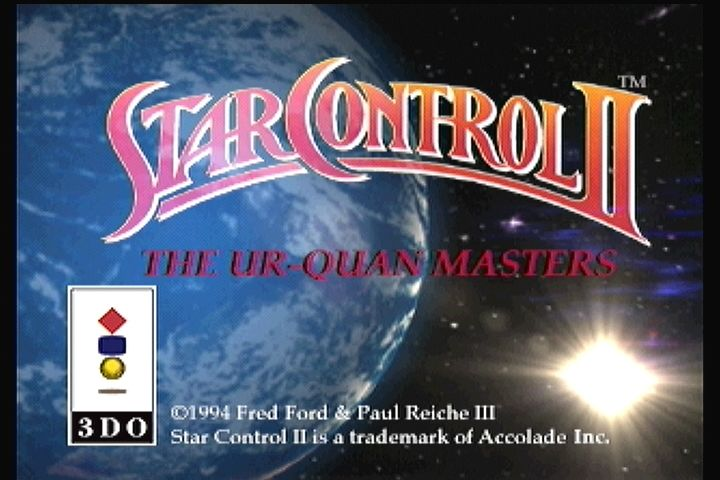Star Control II 3DO Title screen
