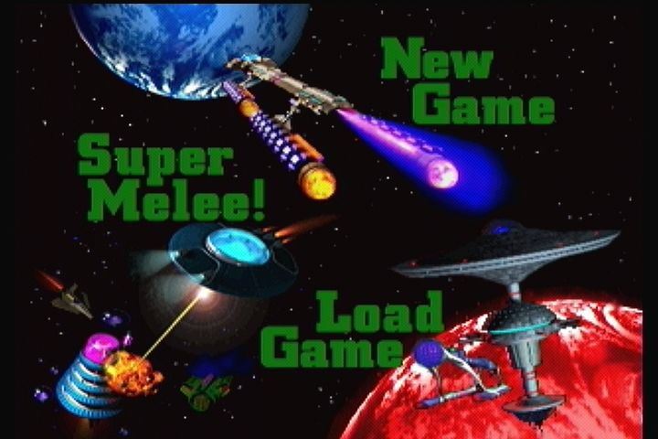 Star Control II 3DO Main menu.