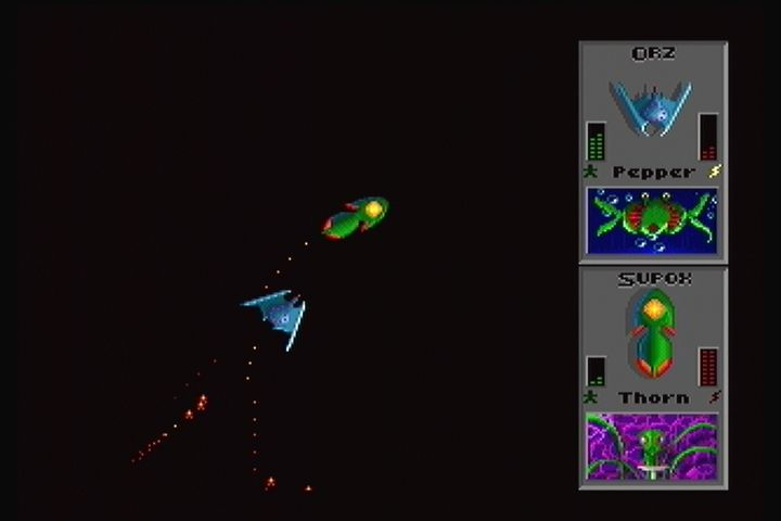 Star Control II 3DO The camera auto zooms based on the fighter's distance from each other.