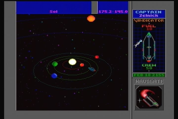 Star Control II 3DO Main game. Navigating the stars.
