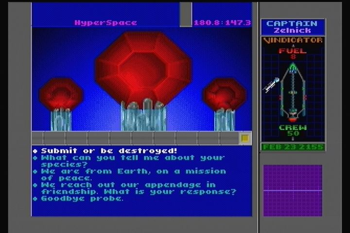 Star Control II 3DO Pick your answer and prepare for the consequences.