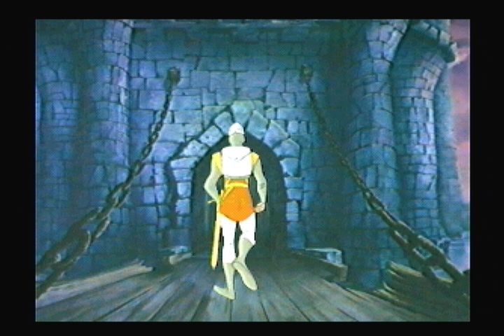 Dragon's Lair 3DO Entering the lair.