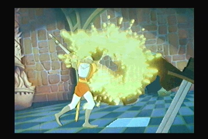 Dragon's Lair 3DO A surprising amount of Dirk's troubles are solved with the blade.