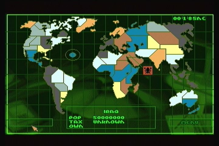 Syndicate 3DO Global menu.