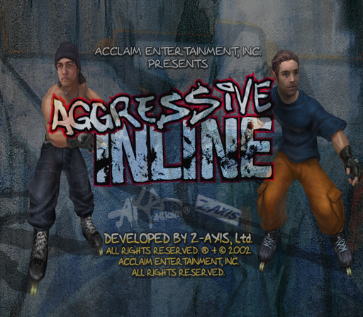 Aggressive Inline PlayStation 2 Title screen.