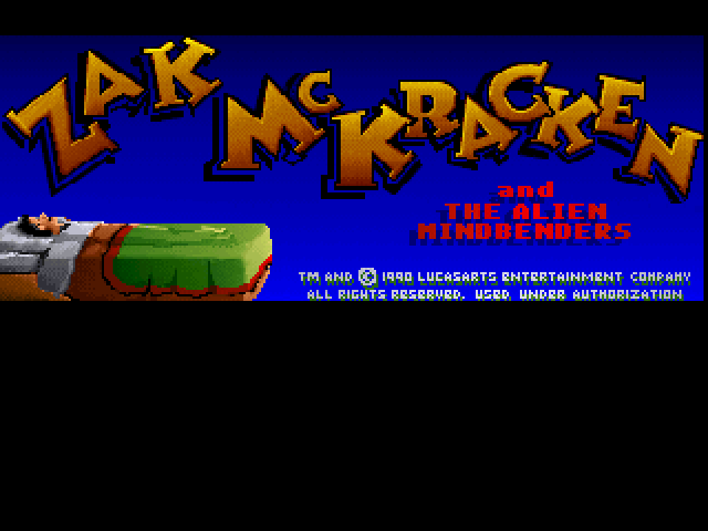 Zak McKracken and the Alien Mindbenders FM Towns Title screen