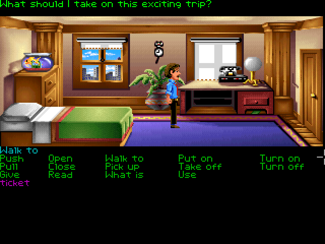 Zak McKracken and the Alien Mindbenders FM Towns Zak's apartment. The