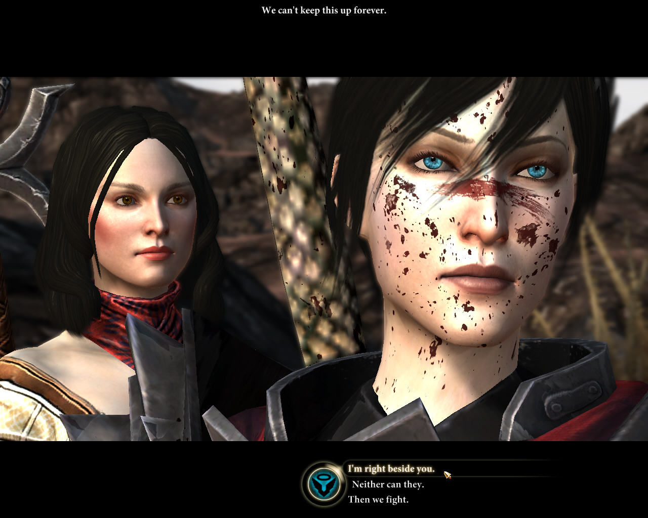 "Dragon Age II Windows New dialogue choices (like in Mass Effect... simplified); same ""bloody faces""..."