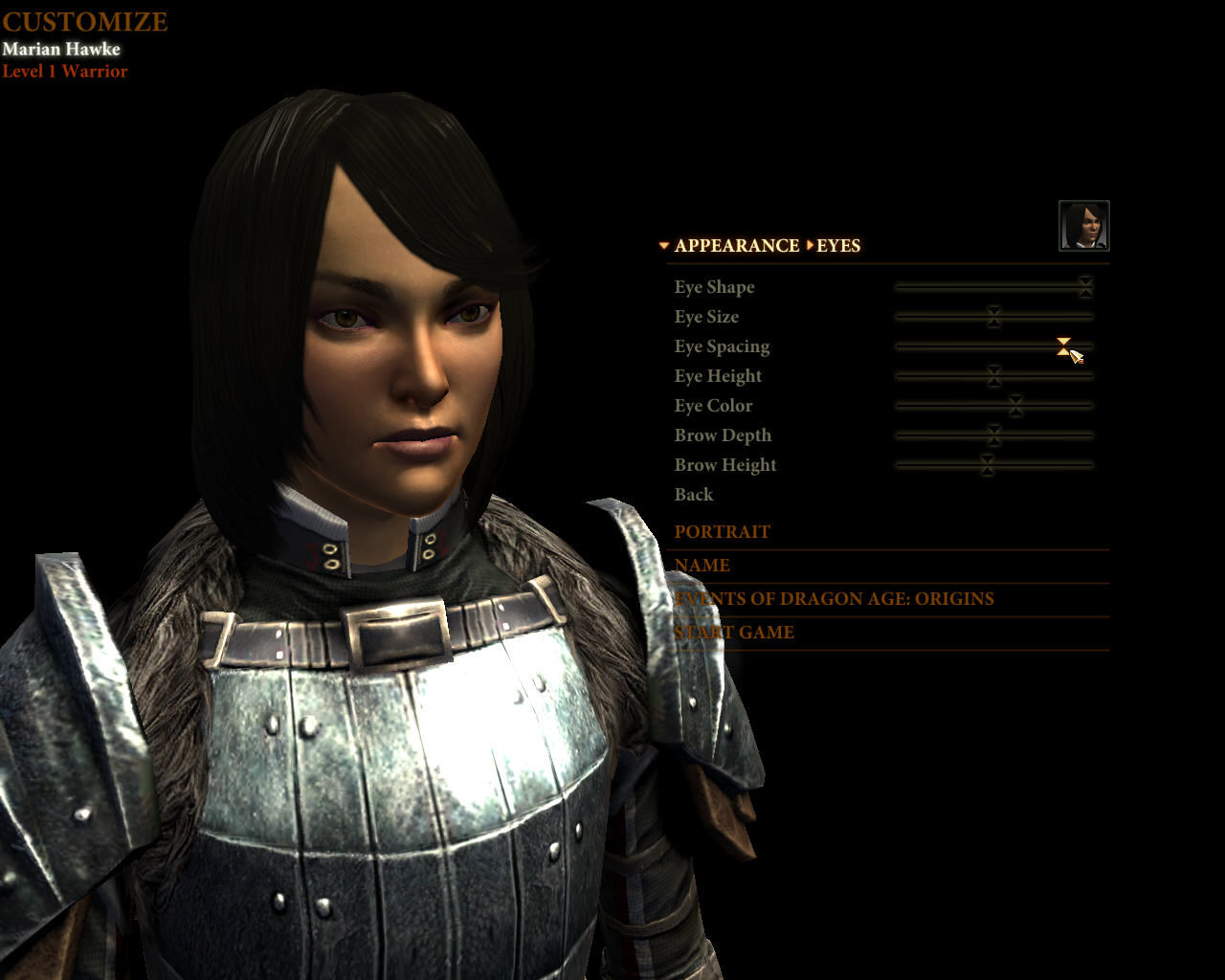 Dragon Age II Windows Character creation