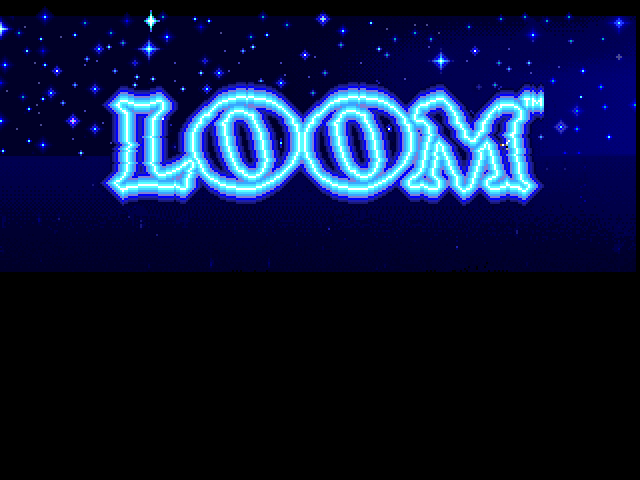 Loom FM Towns Ah, the magical game begins...