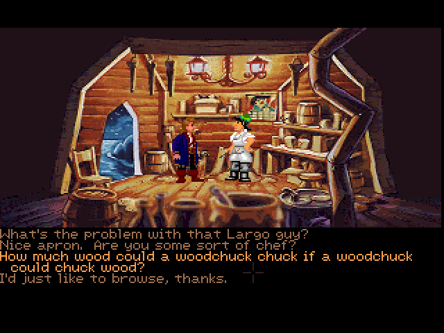 Monkey Island 2: LeChuck's Revenge FM Towns Dialogue choices in English