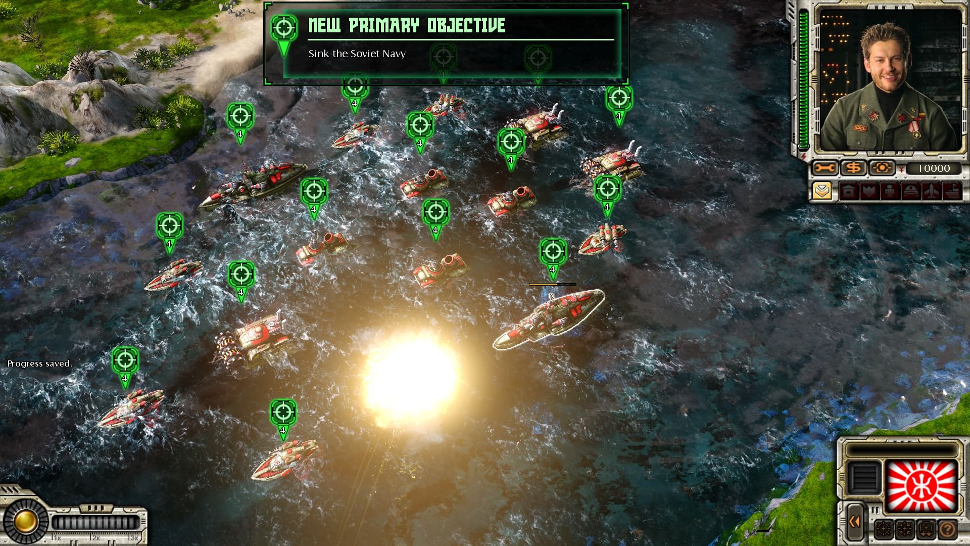 Command & Conquer: Red Alert 3 - Uprising Windows Soviet navy is approaching our positions.
