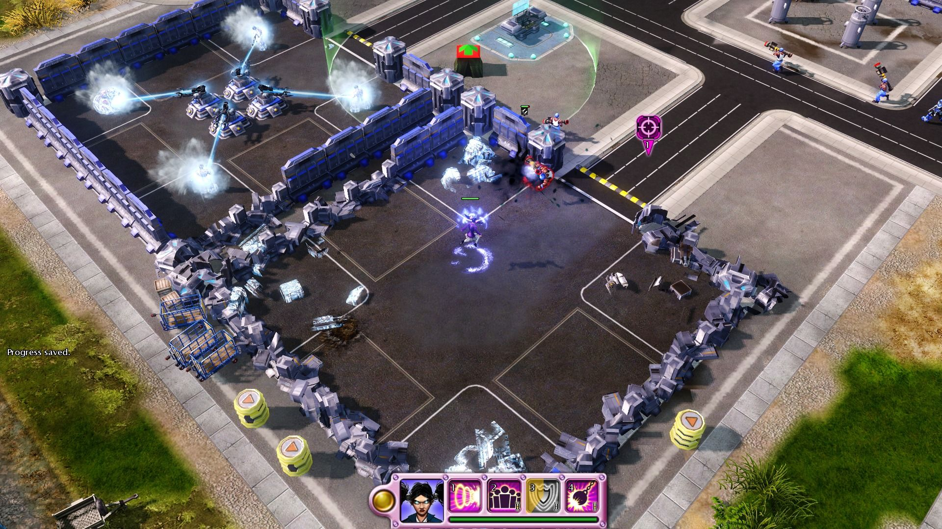 Command & Conquer: Red Alert 3 - Uprising Windows Breaking free... it's time to obliterate this base before proceeding further.