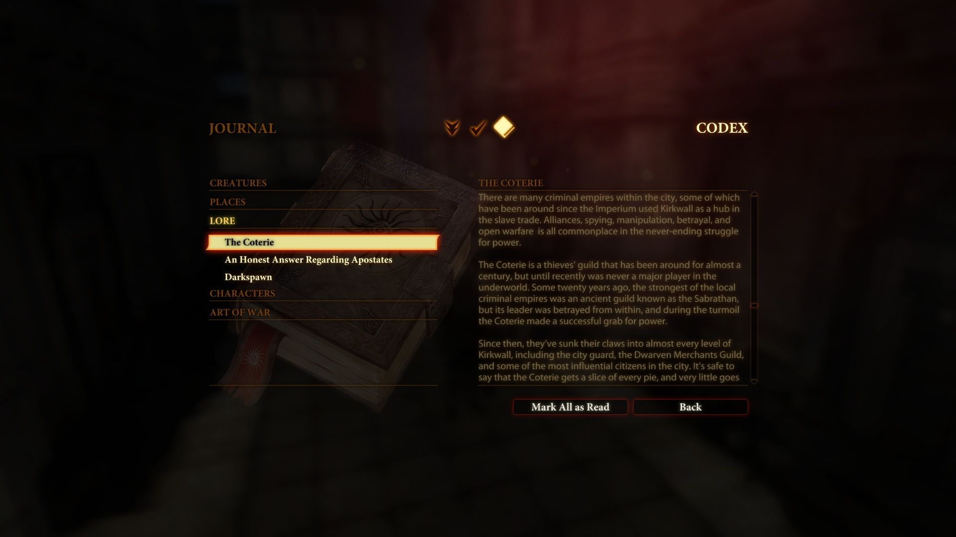 Dragon Age II Windows You can spend hours reading about Dragon Age setting in codex