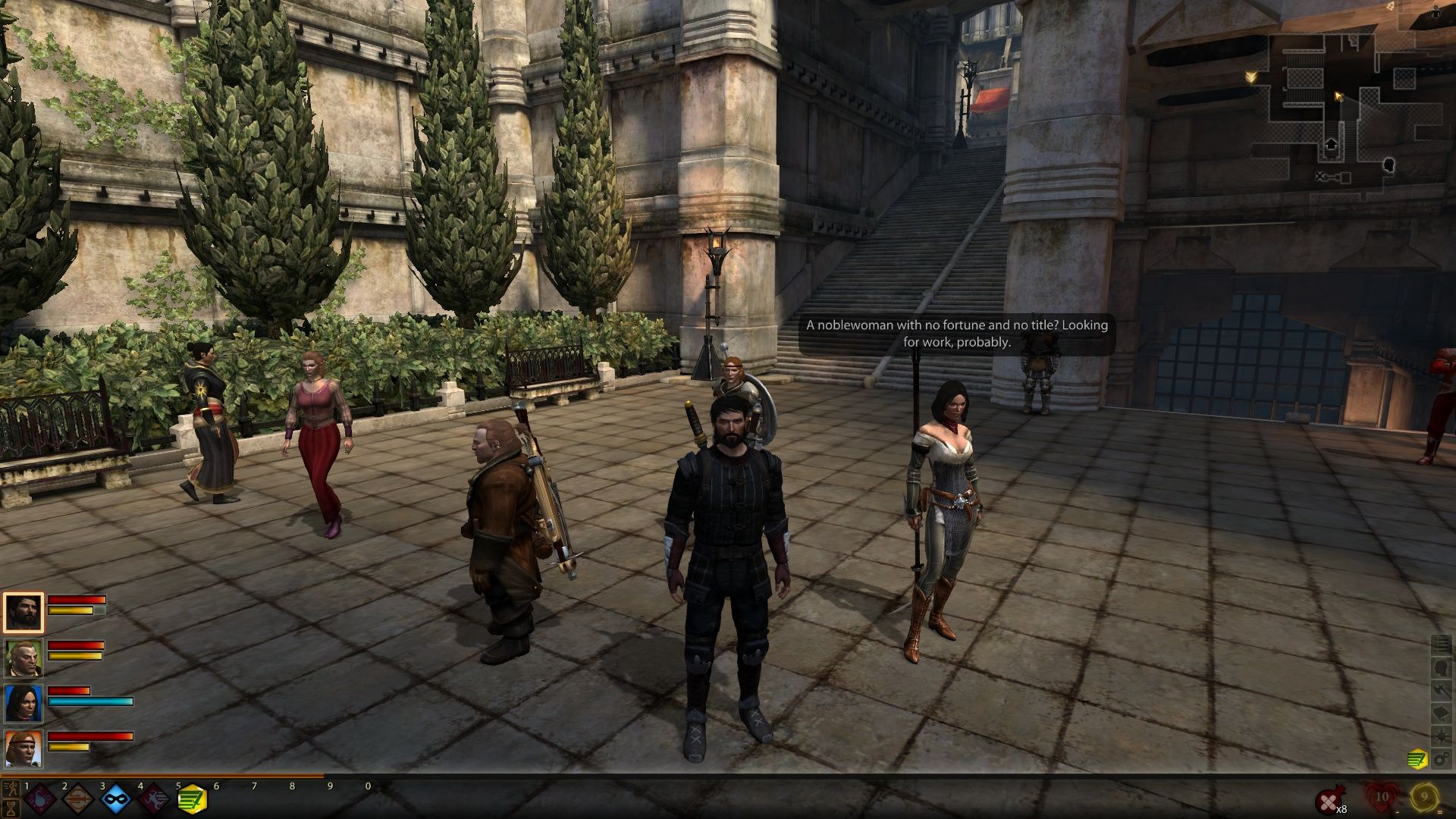 Dragon Age II Windows Characters always have something to say each other.